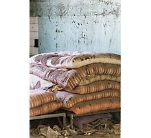mattress in abandoned hospital Photographic Print