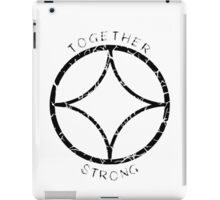 Together Strong (Black) iPad Case/Skin