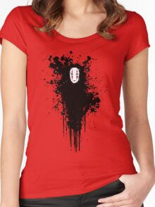 Ink face Women's Fitted Scoop T-Shirt
