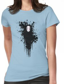 Ink face Womens Fitted T-Shirt