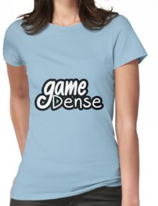 GameDense Text Logo (White - Black Outline) Womens Fitted T-Shirt