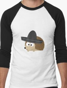 Hedgehog in sombrero Men's Baseball ¾ T-Shirt