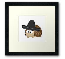 Hedgehog in sombrero Framed Print