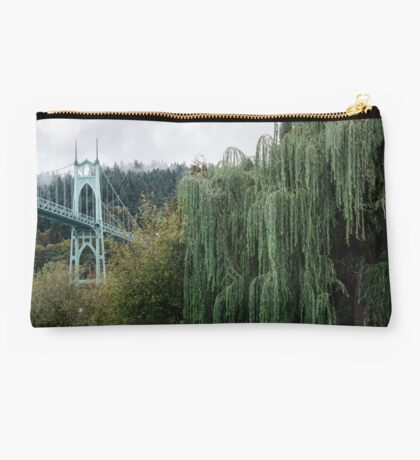 St. John's Bridge from Cathedral Park Studio Pouch