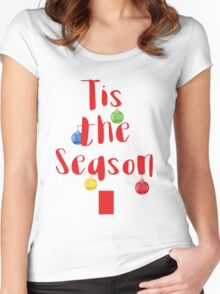 Tis The Season Tree Women's Fitted Scoop T-Shirt
