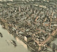 Vintage Pictorial Map of Pittsburgh (1902) Sticker
