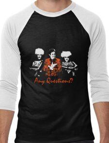 Any Questions? (David S. Pumpkin) Men's Baseball ¾ T-Shirt