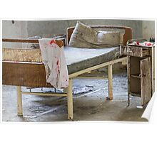 abandoned hospital bed Poster