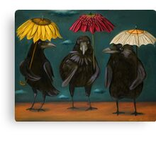 Ravens Rain Canvas Print