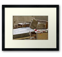 abandoned hospital bed Framed Print