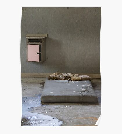 mattress in abandoned hospital Poster