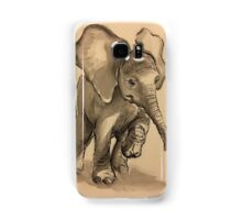 Baby Elephant at Play - Ink wash & crow quill pen painting Samsung Galaxy Case/Skin