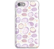 Happy Hedgies - Kawaii Hedgehog Doodle iPhone Case/Skin