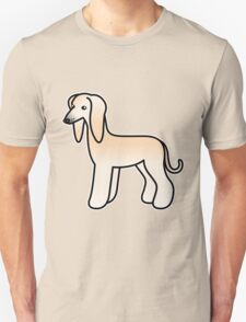 Cream Afghan Hound Cartoon Dog T-Shirt