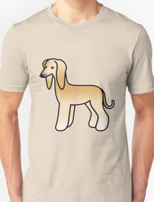 Golden Afghan Hound Cartoon Dog T-Shirt