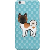 Red Pinto Akita Dog Cartoon iPhone Case/Skin