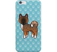 Red Brindle Akita Dog Cartoon iPhone Case/Skin