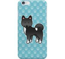 Black Akita Dog Cartoon iPhone Case/Skin