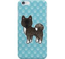 Black Brindle Akita Dog Cartoon iPhone Case/Skin