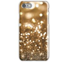 Gold Glitter Bokeh iPhone Case/Skin