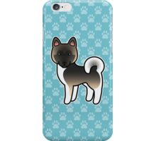 Fawn With Black Overlay Akita Dog Cartoon iPhone Case/Skin