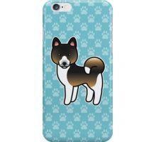 Hound Tricolor Akita Dog Cartoon iPhone Case/Skin
