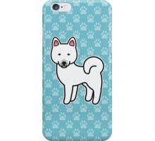 White Akita Dog Cartoon iPhone Case/Skin