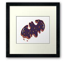 Halloween Bat Cookie  Framed Print
