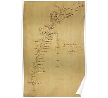 Map of Georgia 1780 Poster