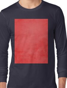 LowPoly Red Long Sleeve T-Shirt