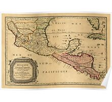 Map of Central America 1851 Poster