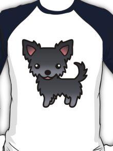 Blue Long Coat Chihuahua Cartoon Dog T-Shirt