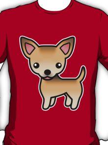Sable Smooth Coat Chihuahua Cartoon Dog T-Shirt