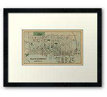 Map of Saint Andrews 1878 Framed Print