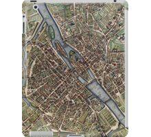 Vintage Map of Paris (1657)  iPad Case/Skin