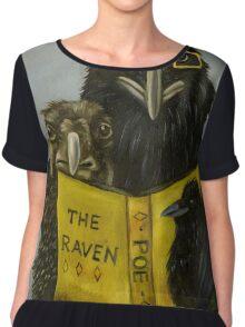 Ravens Read Chiffon Top