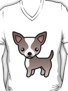 Lavender And White Smooth Coat Chihuahua Cartoon Dog T-Shirt