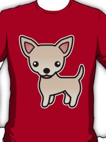 Cream Smooth Coat Chihuahua Cartoon Dog T-Shirt