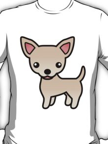Cream Smooth Coat Chihuahua Cartoon Dog T-Shirt