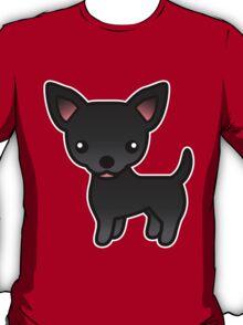 Black Smooth Coat Chihuahua Cartoon Dog T-Shirt