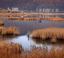 Fishermen in Chimaditis lake - Florina by Hercules Milas