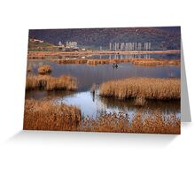 Fishermen in Chimaditis lake - Florina Greeting Card