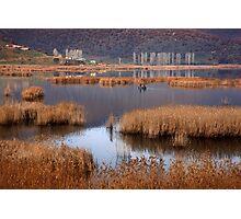 Fishermen in Chimaditis lake - Florina Photographic Print