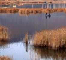 Fishermen in Chimaditis lake - Florina Sticker