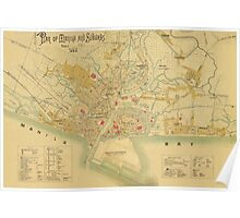Map of Bay of Manila 1899 Poster