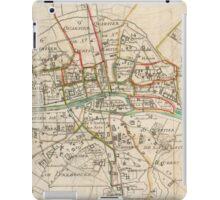Vintage Map of Paris (1678) iPad Case/Skin
