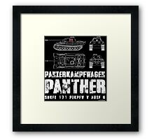 PANTHER TANK Framed Print