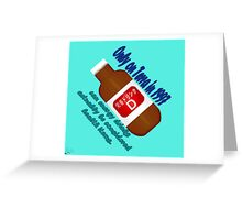 Only on Terra in '97 can energy drinks be healthy. Greeting Card