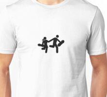 Skateboard boy & girl road sign style design Unisex T-Shirt