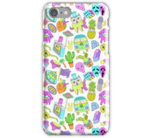 Crazy sticker style acid color pattern iPhone Case/Skin